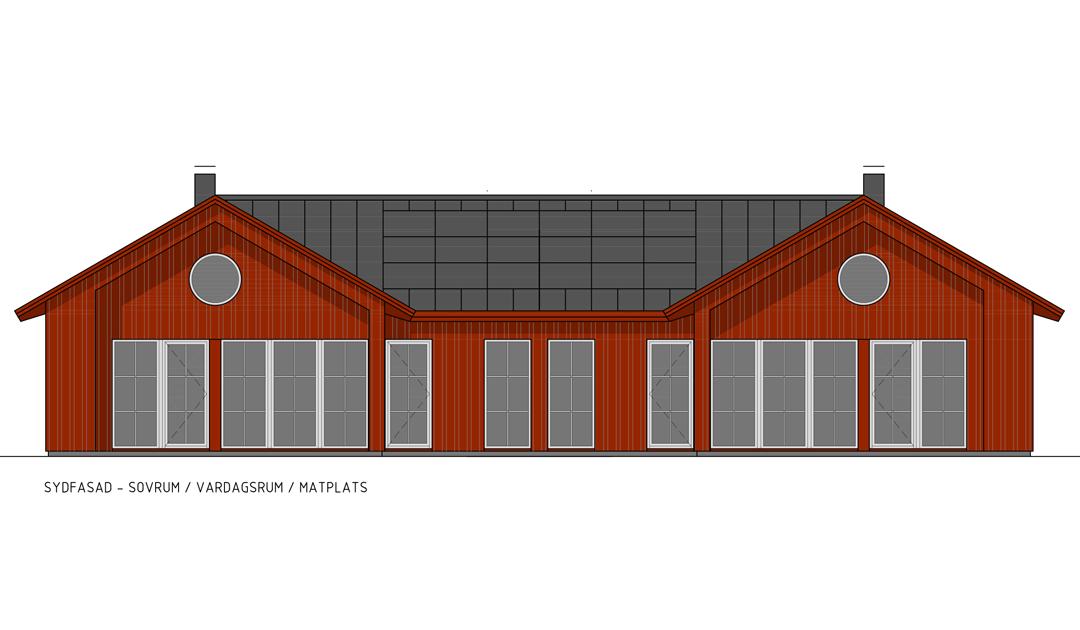 Hustyp B fasad Kvarnviks Strand